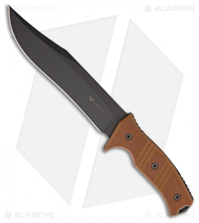"Steel Will Chieftain Fixed Blade Knife Brown Micarta (7.5"" Black) 1620"