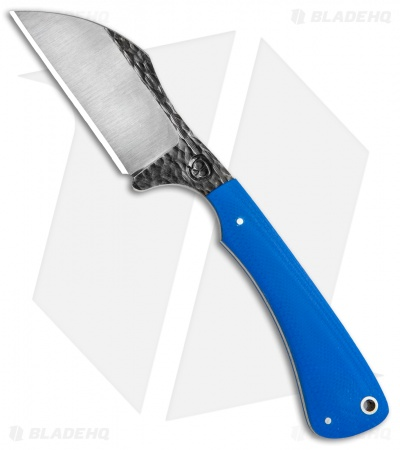 "Suwannee River Lime Cutter Fixed Blade Knife Blue G-10 (2.875"" Satin)"