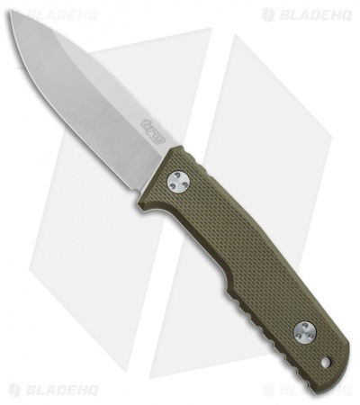 "TRC Knives Urban Tactical Fixed Blade Knife OD Green G-10 (3.5"" Satin Elmax)"