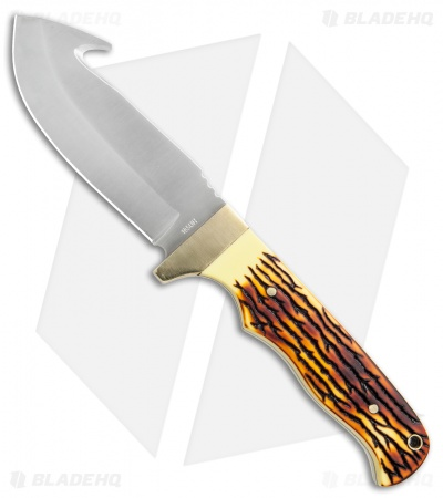 "Uncle Henry Guthook Fixed Blade Knife (4.25"" Satin) 185UH"