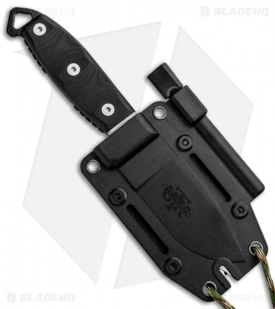"Utica Cutlery UTKS-3 Survival Series Fixed Blade Black Micarta (3.5"" Black)"