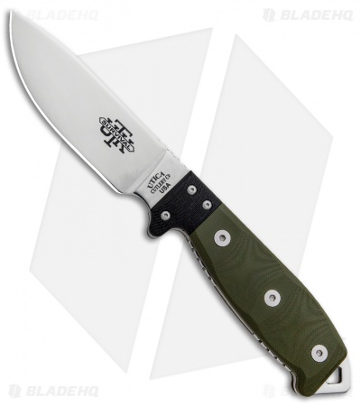 "Utica Cutlery UTKS-4 Survival Series Fixed Blade Green Micarta (4.5"" Mirror)"