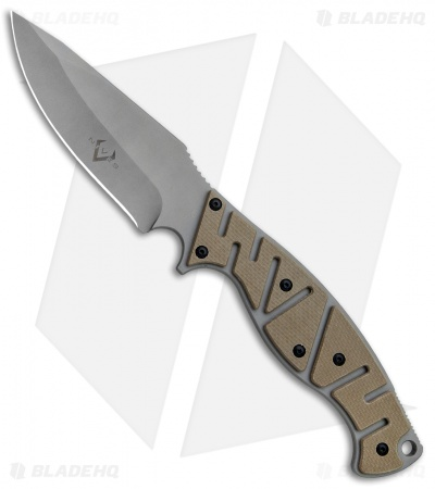 "V Nives Altered Beast Fixed Blade Knife Coyote Snow G-10 (4.25"" Bead Blast)"