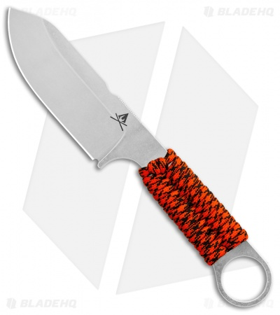 "White River Firecraft 3.5 Fixed Blade Knife Orange Paracord (3.5"" Stonewash)"