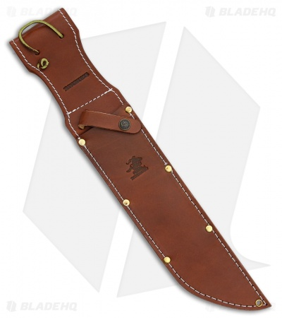 "Winchester Explorer Fixed Blade Knife Stacked Leather (10"" Mirror) WN104"