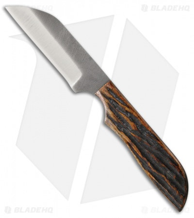 "Anza Knives WK-4AJB Fixed Blade Knife Amber Jigged Bone (3"" Satin)"