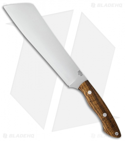"Bark River Dakkar Fixed Blade Knife Bocote Wood (10"" Satin A-2)"