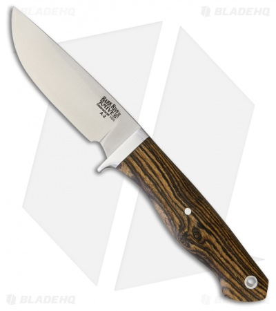 "Bark River Fieldsman Fixed Blade Knife Bocote Wood Micarta (3.375"" Satin)"