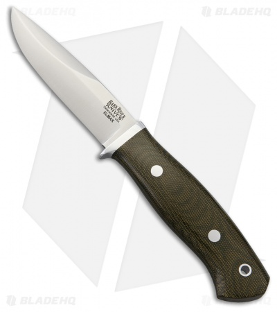 "Bark River Snowy River Fixed Blade Knife Green Canvas Micarta (3.75"" Satin)"
