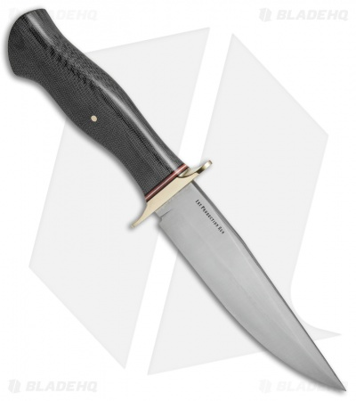 "Bark River Vest Pocket Bowie A Fixed Blade Knife Black Micarta (5.375"" Satin)"