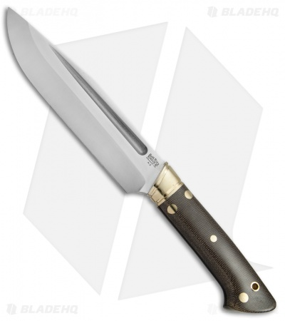"Bark River Vidarr Fixed Blade Knife Green Canvas Micarta (6.125"" Satin)"