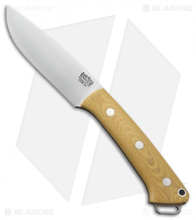 "Bark River Fox River LT Fixed Blade Knife Antique Ivory Micarta (4.25"" Satin)"