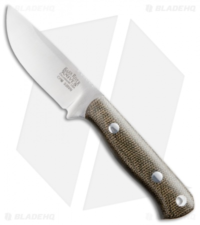 "Bark River Bravo-Micro Fixed Blade Knife Green Micarta (2.25"" Satin)"