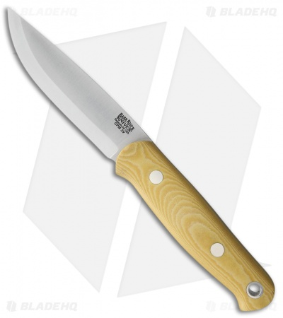 "Bark River Bushcrafter II Fixed Blade Knife Antique Ivory Micarta (4.5"" CPM-3V)"