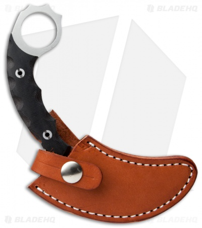"Bark River Ghost II Fixed Blade Knife Black Canvas Micarta (3.5"" Satin)"