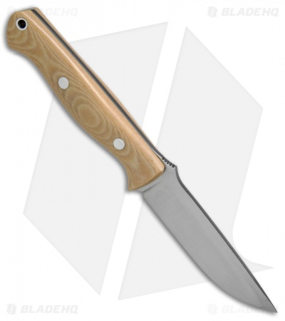 "Bark River Knives Gunny Antique Ivory Micarta Fixed Blade Knife (3.75"" Satin)"