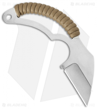 "Bastinelli Moon's Kiss Fixed Blade Neck Knife Coyote Cord (1.75"" Satin)"