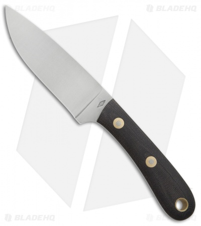 "Battle Horse Knives Patriot Scout Fixed Blade Black Micarta (4.25"" Satin) BHK"