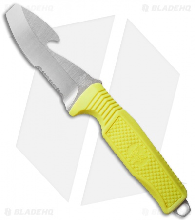 "Benchmade Opposing Bevel H2O Dive Knife Yellow (3.5"" Satin Serr) 112S-YEL"