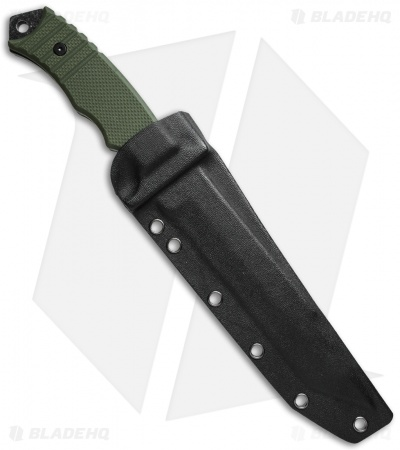 "Boker Magnum Merc Fixed Blade Knife Green G-10 (7"" Smokewash Serr) 02SC257"