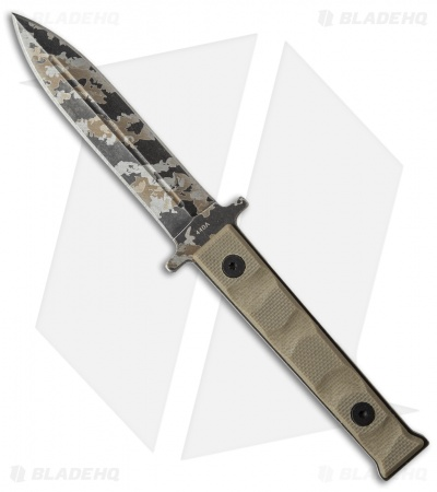 "Boker Magnum Weekend Warrior Fixed Blade Neck Knife Tan G-10 (3"" Camo) 02SC329"