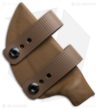 Armordillo Concealment Kydex Sheath for Boker Ridgeback Coyote w/ Soft Loops