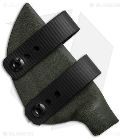Armordillo Concealment Kydex Sheath for Boker Ridgeback OD Green w/ Soft Loops