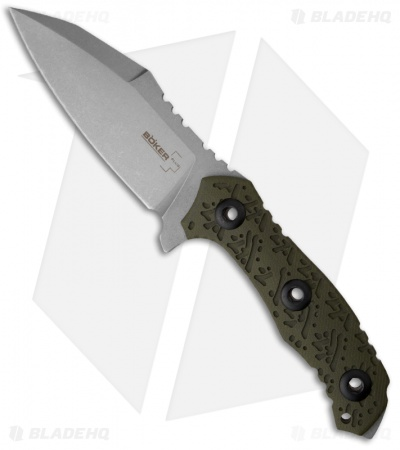 "Boker Plus Colubris Fixed Blade Knife (4.29"" Stonewash Plain) 02BO055"