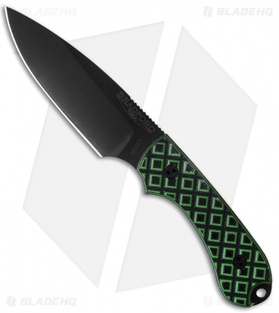 "Bradford Knives Guardian3 Knife Toxic Green/Black G-10 (3.5"" Sabre DLC)"