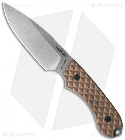 Bradford Knives Guardian4 Knife Coyote Brown G-10 (Sabre/S30V/Stonewash)