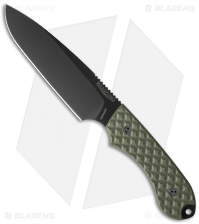 "Bradford Knives Guardian5 Knife OD Green G-10 (5.5"" Sabre DLC)"