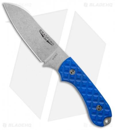Bradford Knives Guardian3 Fixed Blade Patriot Blue G-10 (Sheepsfoot/M390/SW)