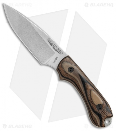 Bradford Knives Guardian3 Fixed Blade G-Wood (False Edge/M390/Stonewash)