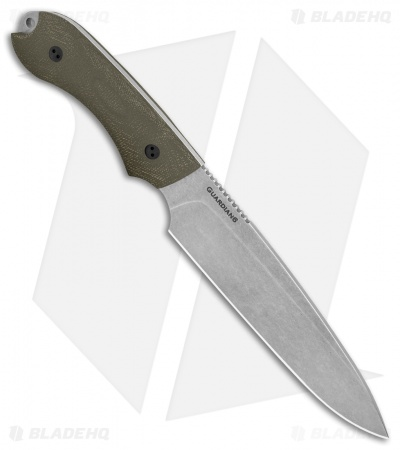 "Bradford Knives Guardian6 Knife 3D OD Green Micarta (6.5"" Sabre SW)"
