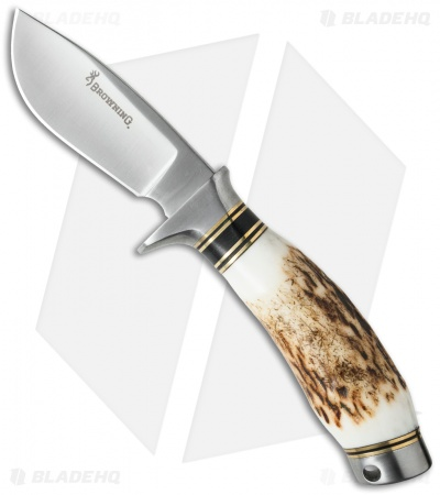 "Browning Non-Typical Skinning Hunting Knife Stag (3"" Satin) 322424"