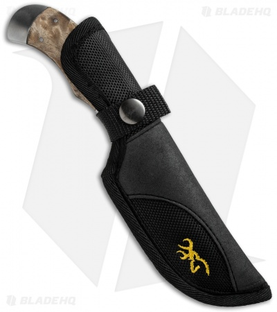 "Browning Pursuit Fixed Blade Knife Burl Wood (3.25"" Satin)"