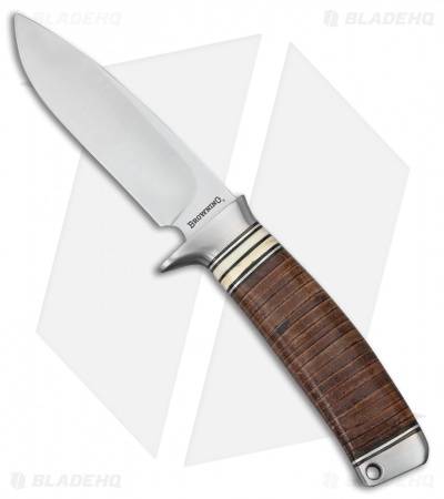 "Browning Out Last Fixed Blade Knife Brown Leather (4"" Satin)"