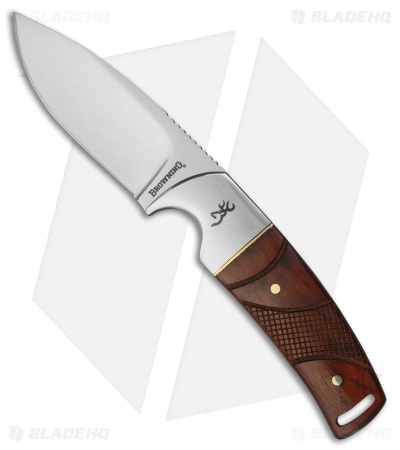 "Browning Rattler Fixed Blade Knife Cocobolo Wood (3"" Mirror)"
