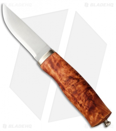 "Brusletto Norges-Kniven Knife Curly Birch (3.75"" Satin) Norway"