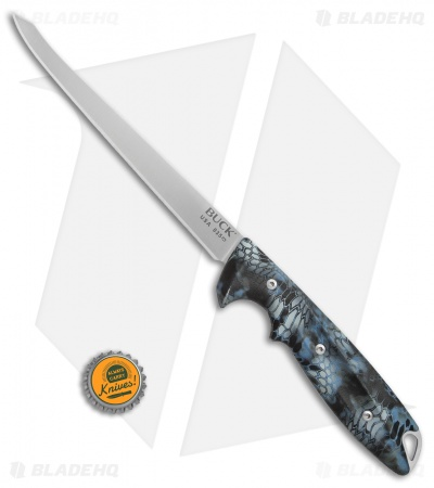 "Buck 035 Abyss Fillet Knife Kryptek Neptune (6.5"" Satin)"