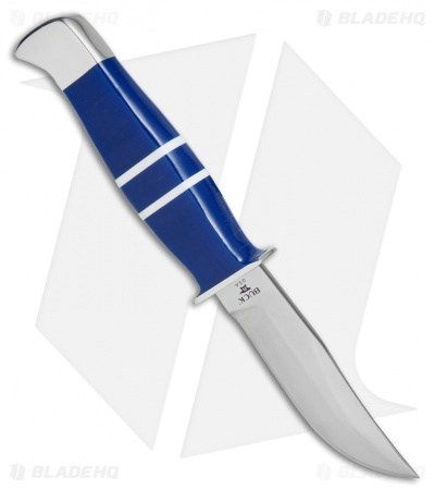 "Buck Limited Edition Ranger Fixed Blade Knife Blue Lucite (3.6"" Satin) 212BLSLE"