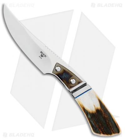 "Buck Spur Heritage Collection Fixed Blade Knife Stag (3.25"" Mirror)"