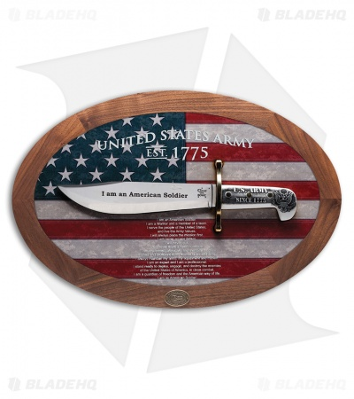 Case U.S. Army Soldier's Creed Commemorative Bowie Plaque 15009