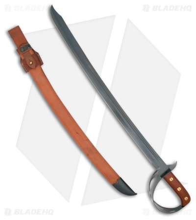 "Cold Steel 1917 Cutlass Sword w/ Brown Leather Scabbard (24.75"" Satin)"