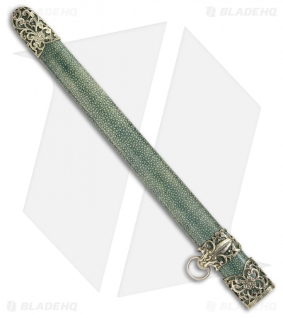 "Cold Steel Jade Lion Dagger Sword (15.50"" Damascus) 88RLD"