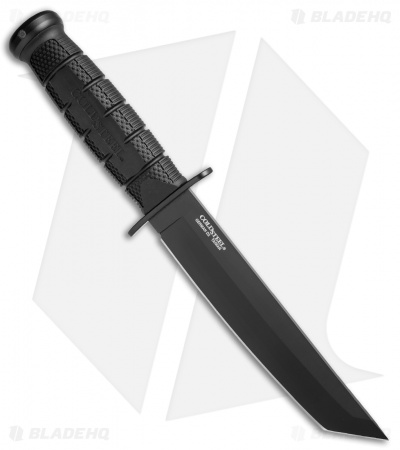 "Cold Steel Leatherneck Tanto Fixed Blade Knife (7"" Black Powdercoat D2) 39LSFCT"