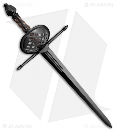 "Cold Steel Man At Arms Shell Guard Dagger (12.5"" Black) 88SHDM"