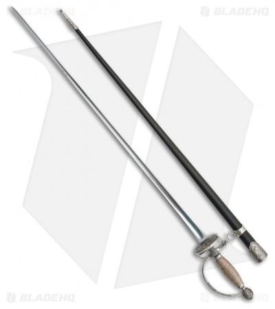 "Cold Steel Small Sword w/ Leather Scabbard (30.75"" Satin) 88SMS"