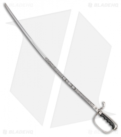 "Cold Steel U.S. Army Officer's Saber Sword (32"" Satin Etched)"