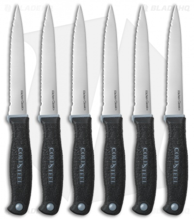 Cold Steel Steak Knives Kitchen Knife Set (6-Pack) 59KSS6Z